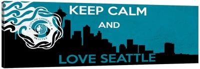 Keep Calm & Love Seattle Canvas Art Print