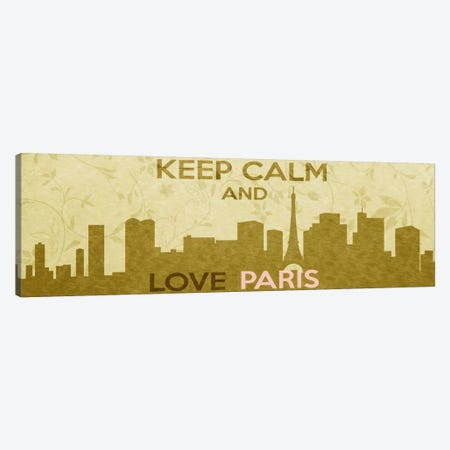 Keep Calm & Love Paris Canvas Print #KPC44} by Unknown Artist Art Print