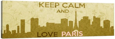 Keep Calm & Love Paris Canvas Print #KPC44