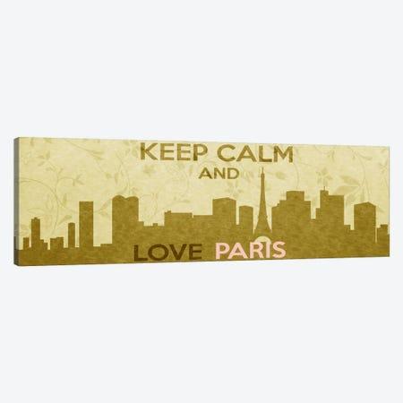 Keep Calm & Love Paris Canvas Print #KPC44} by Unknown Artist Art Print