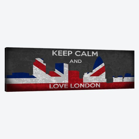 Keep Calm & Love London Canvas Print #KPC45} by Unknown Artist Canvas Art Print