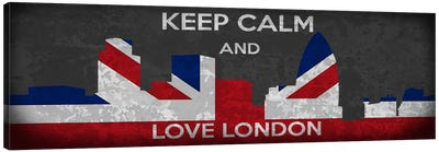 Keep Calm & Love London Canvas Print #KPC45