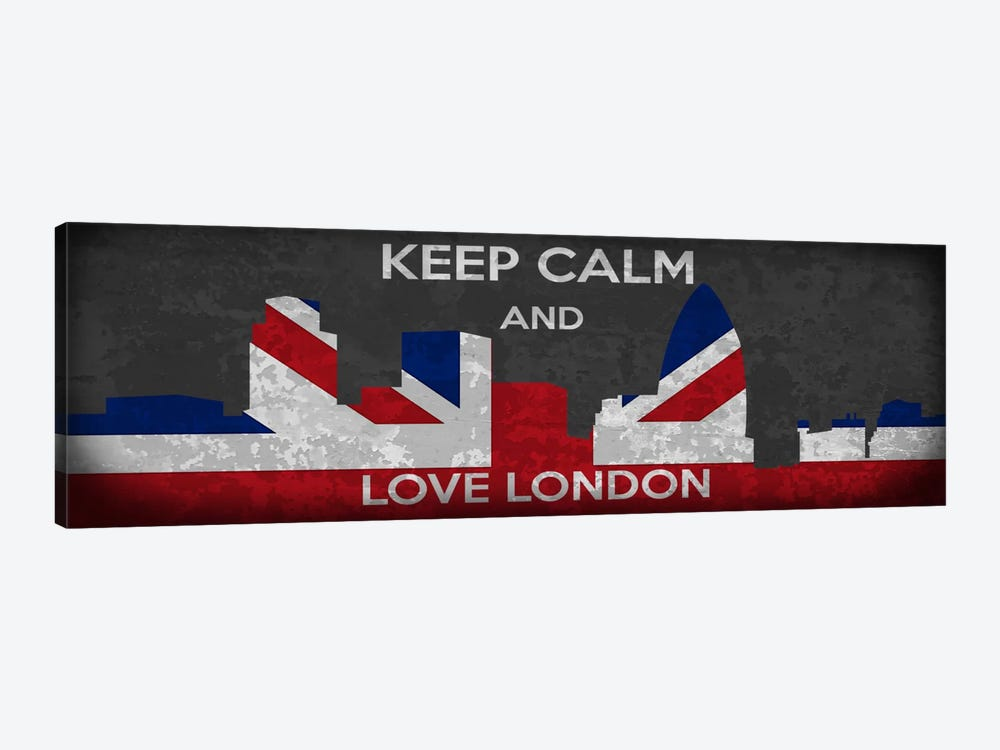 Keep Calm & Love London by iCanvas 1-piece Art Print