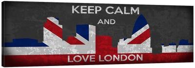 Keep Calm & Love London Canvas Art Print