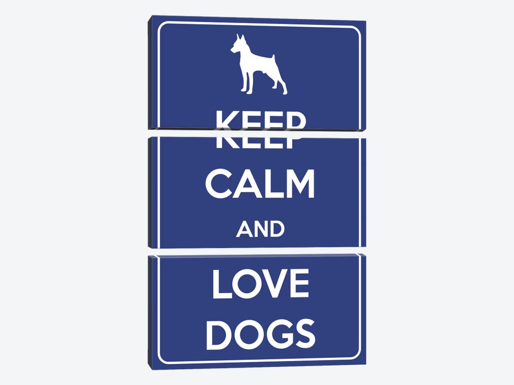 Keep Calm & Love Dogs by iCanvas 3-piece Canvas Art