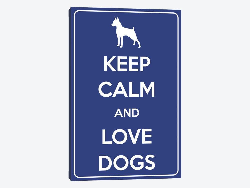 Keep Calm & Love Dogs by Unknown Artist 1-piece Canvas Artwork