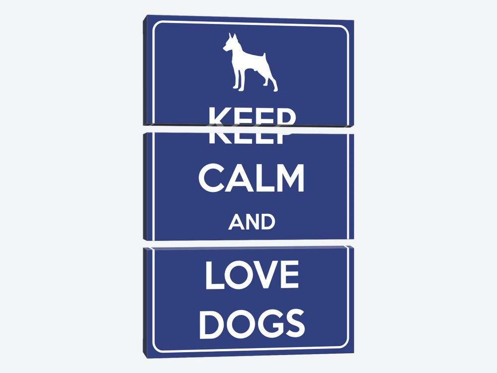 Keep Calm & Love Dogs by Unknown Artist 3-piece Canvas Art