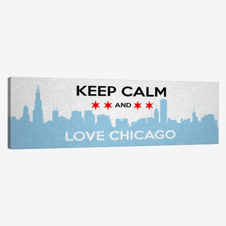 Keep Calm & Love Chicago Canvas Print #KPC48} by Unknown Artist Canvas Wall Art