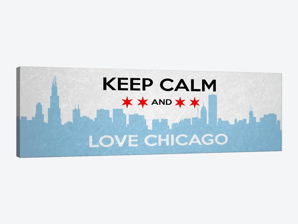 Keep Calm Love Chicago Canvas Wall Art By Unknown Artist Icanvas