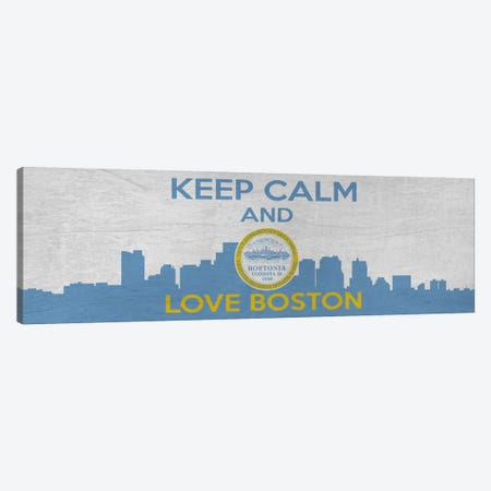 Keep Calm & Love Boston Canvas Print #KPC50} by Unknown Artist Art Print