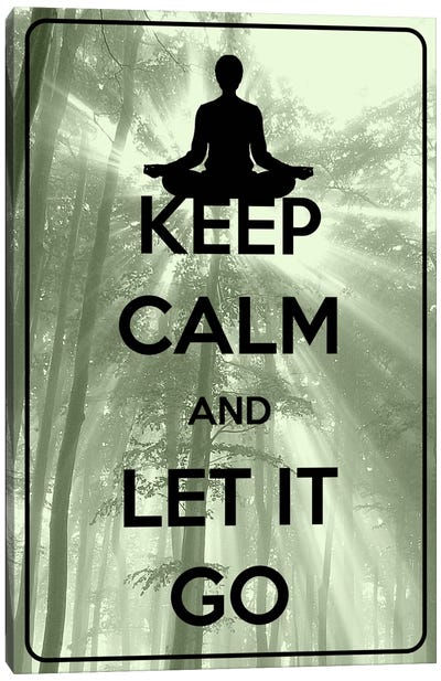 Keep Calm & Let It Go Canvas Art Print