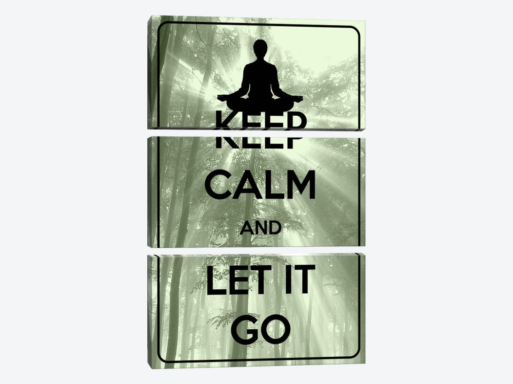 Keep Calm & Let It Go by iCanvas 3-piece Canvas Wall Art