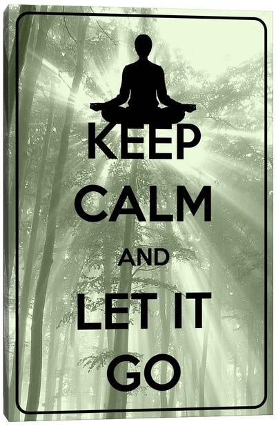 Keep Calm & Let It Go Canvas Art Print