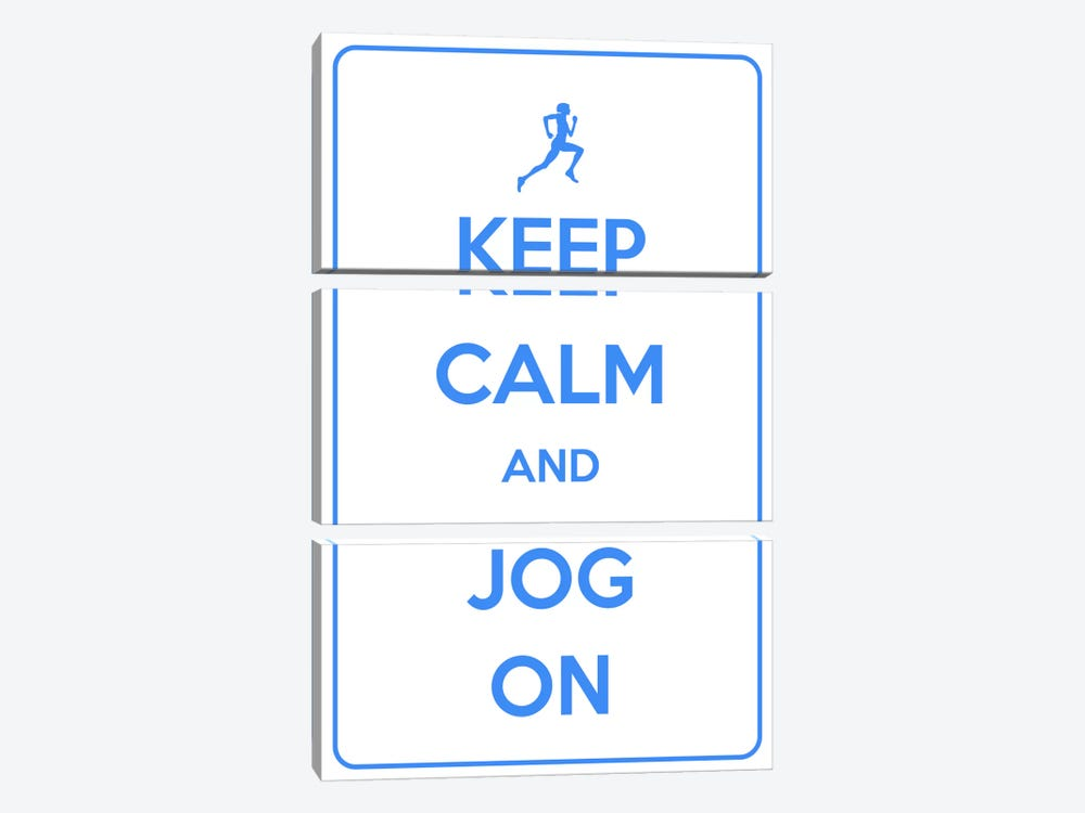 Keep Calm & Jog On by iCanvas 3-piece Canvas Wall Art