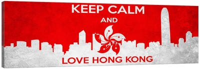 Keep Calm & Love Hong Kong Canvas Art Print