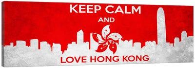 Keep Calm & Love Hong Kong Canvas Art Print