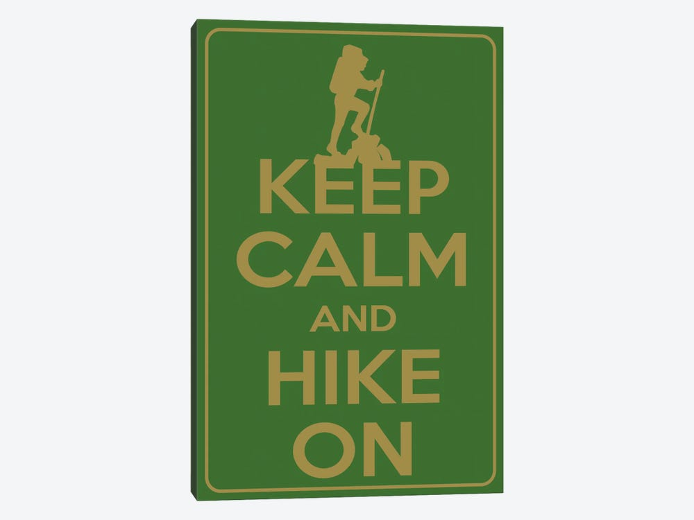 Keep Calm & Hike On by Unknown Artist 1-piece Canvas Wall Art