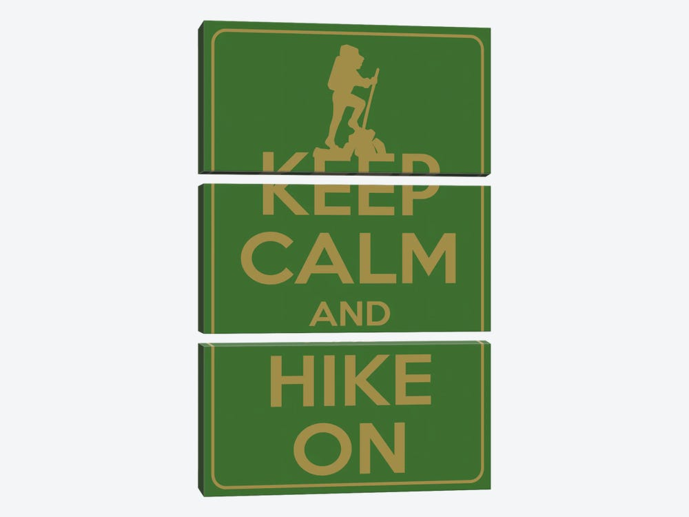 Keep Calm & Hike On by iCanvas 3-piece Canvas Artwork