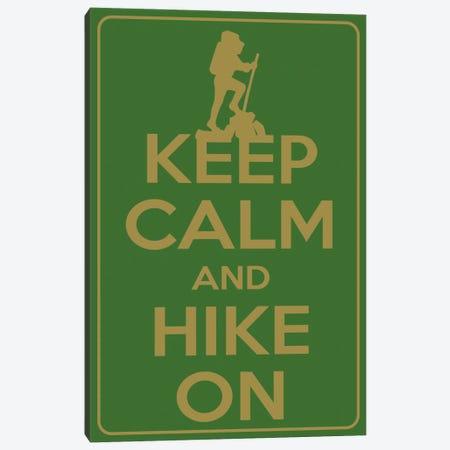 Keep Calm & Hike On Canvas Print #KPC57} by Unknown Artist Canvas Artwork
