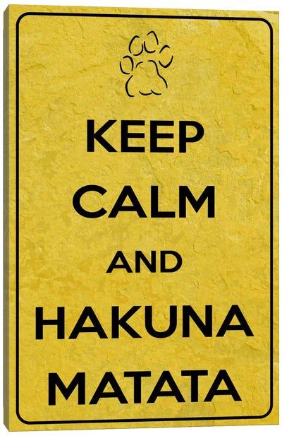 Keep Calm & Hakuna Matata Canvas Art Print