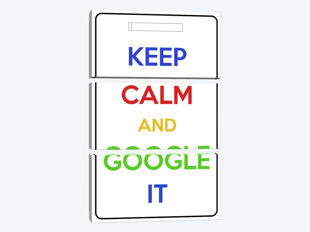 Keep Calm & Google It by iCanvas 3-piece Canvas Print