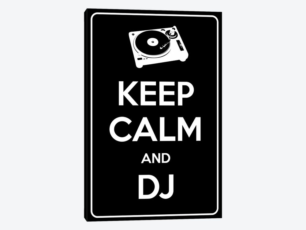 Keep Calm & Dj by iCanvas 1-piece Canvas Artwork