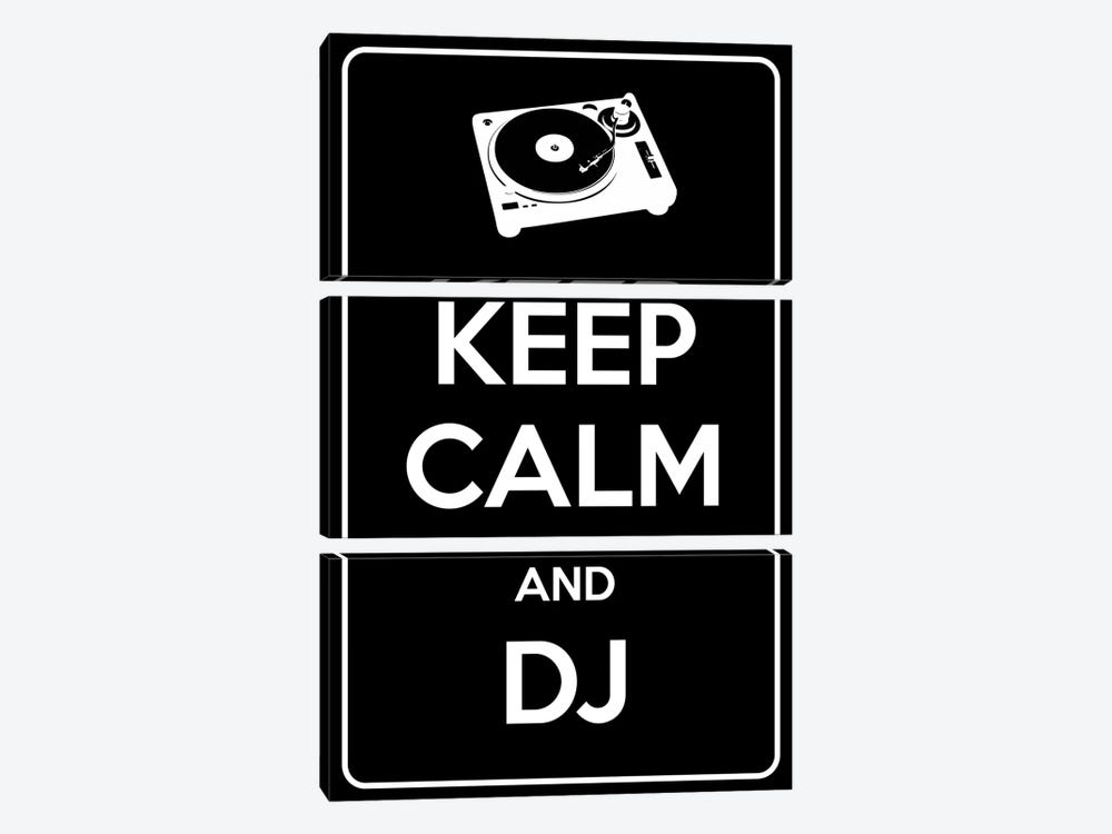 Keep Calm & Dj by iCanvas 3-piece Canvas Art