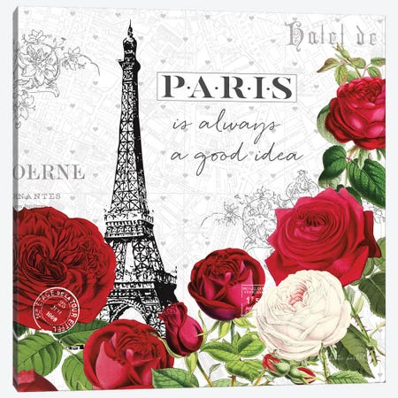 Rouge Paris II Canvas Print #KPE1} by Katie Pertiet Canvas Art Print