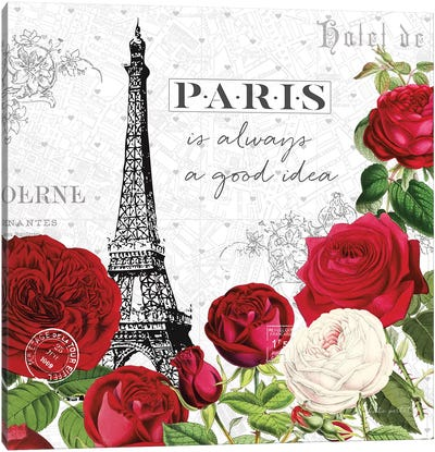 Rouge Paris II Canvas Art Print