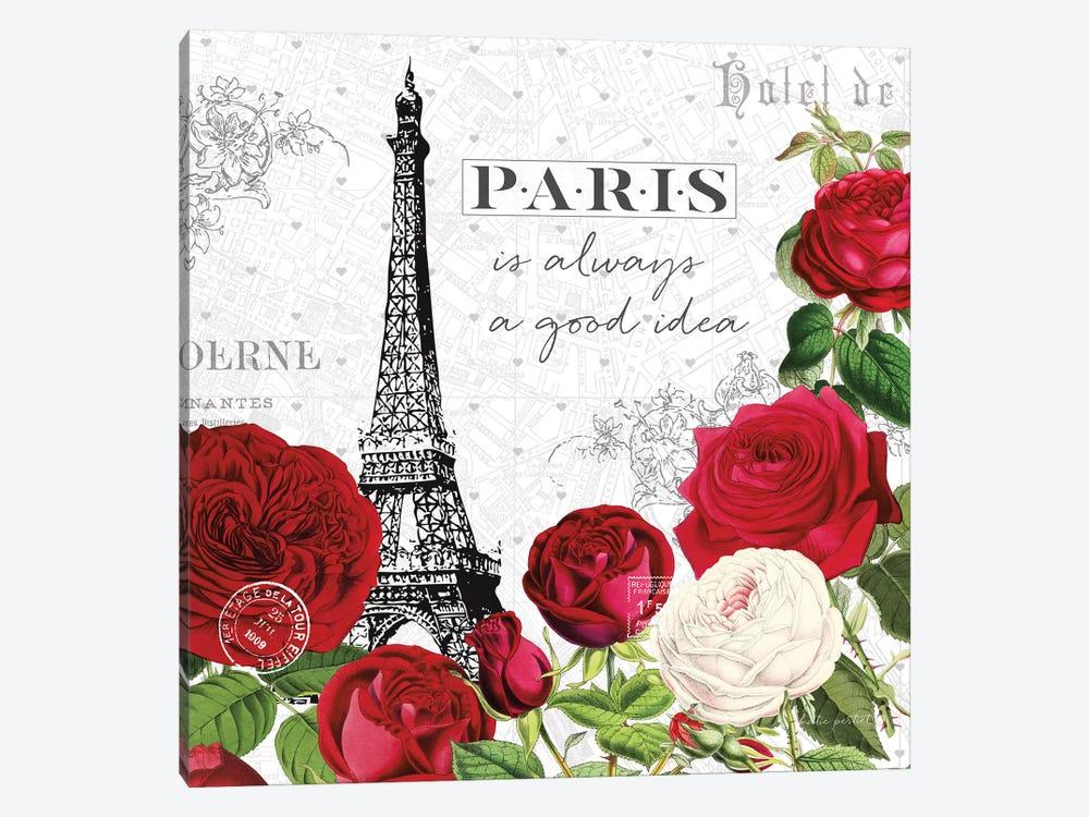 Rouge Paris II by Katie Pertiet 1-piece Canvas Print