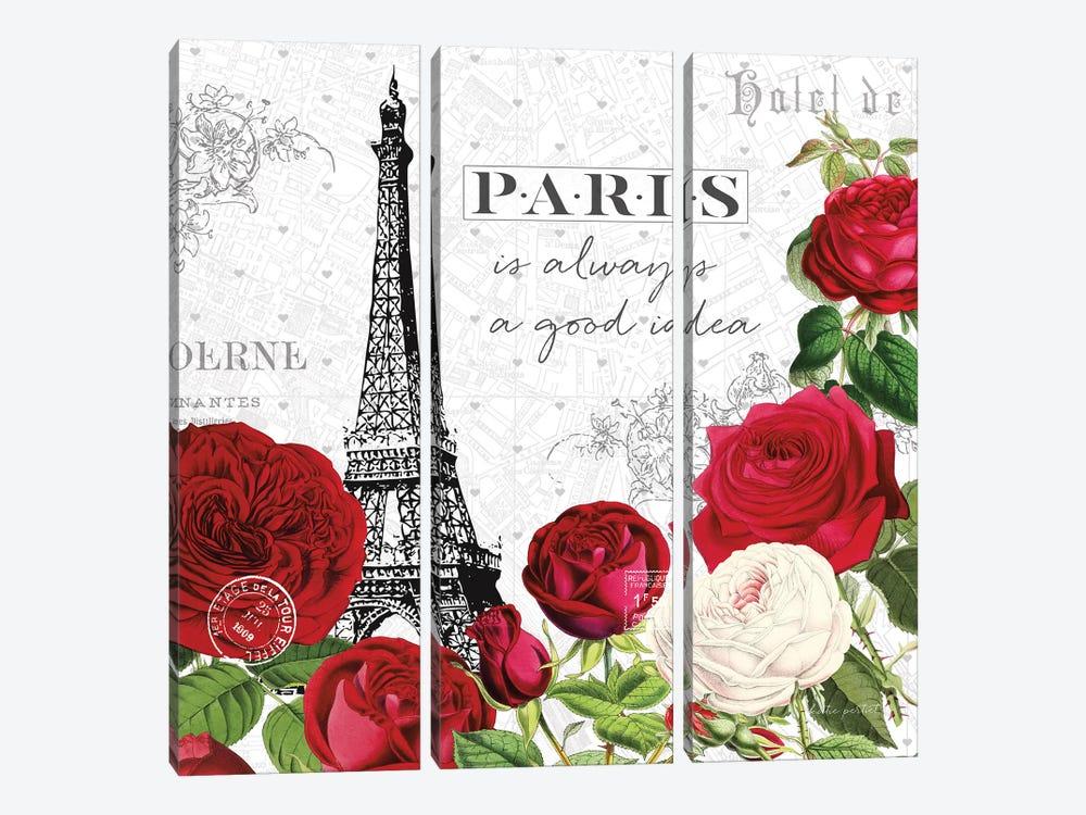 Rouge Paris II by Katie Pertiet 3-piece Art Print