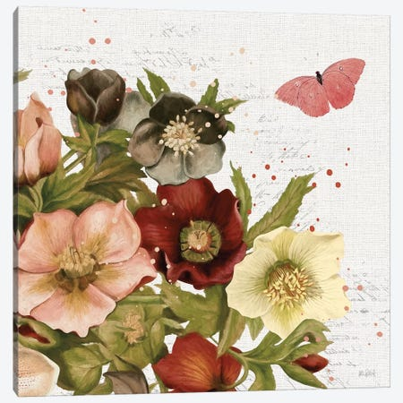 Vintage Petals III Canvas Print #KPE21} by Katie Pertiet Canvas Artwork