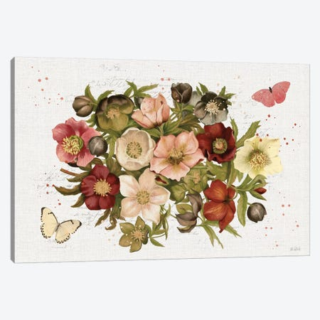 Vintage Petals IV Canvas Print #KPE22} by Katie Pertiet Canvas Artwork