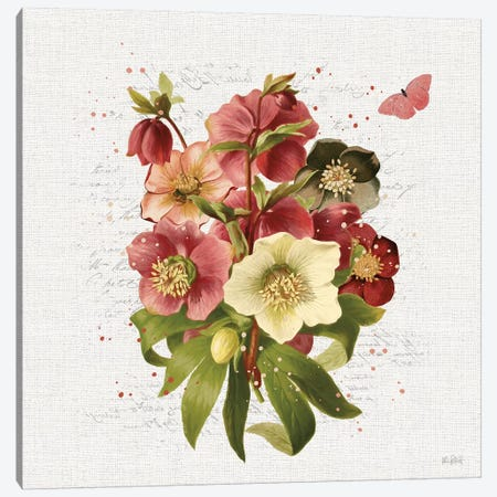 Vintage Petals V Canvas Print #KPE23} by Katie Pertiet Canvas Art