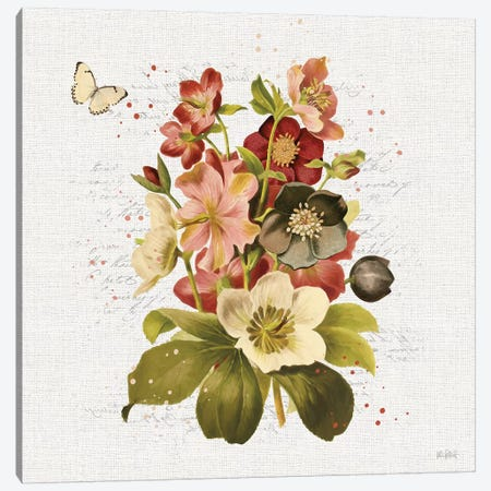 Vintage Petals VI Canvas Print #KPE24} by Katie Pertiet Art Print