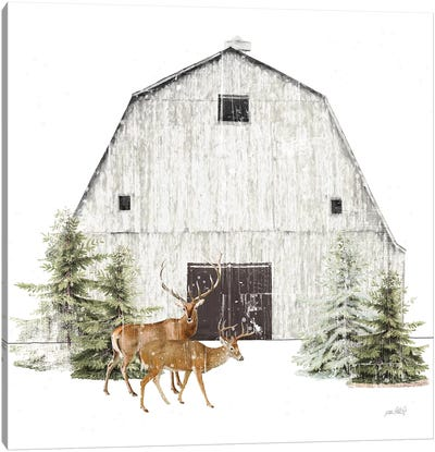Wooded Holiday VI Canvas Art Print
