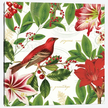 Christmas Garden IV Canvas Print #KPE29} by Katie Pertiet Canvas Wall Art