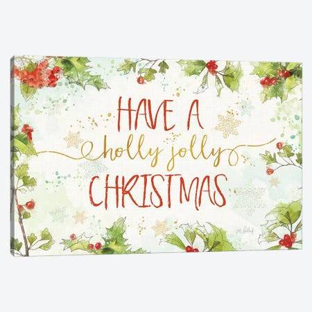 Christmas Sentiments I Canvas Print #KPE31} by Katie Pertiet Canvas Print