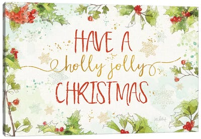 Christmas Sentiments I Canvas Art Print