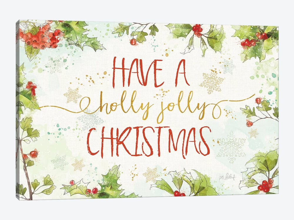 Christmas Sentiments I by Katie Pertiet 1-piece Canvas Wall Art