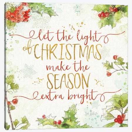 Christmas Sentiments II Canvas Print #KPE33} by Katie Pertiet Canvas Art Print