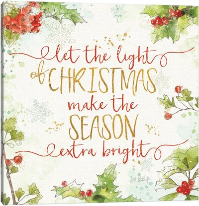 Christmas Sentiments II Canvas Art Print