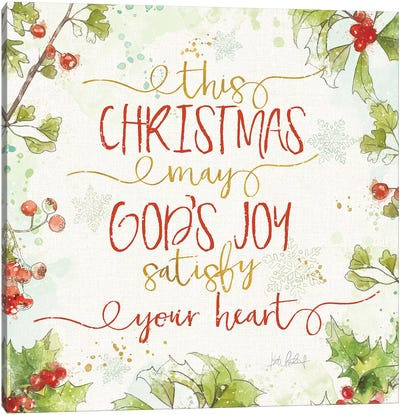 Christmas Sentiments III Canvas Art Print