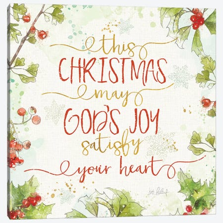 Christmas Sentiments III Canvas Print #KPE35} by Katie Pertiet Canvas Wall Art