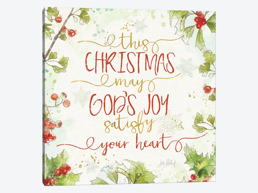 Christmas Sentiments III by Katie Pertiet 1-piece Canvas Wall Art