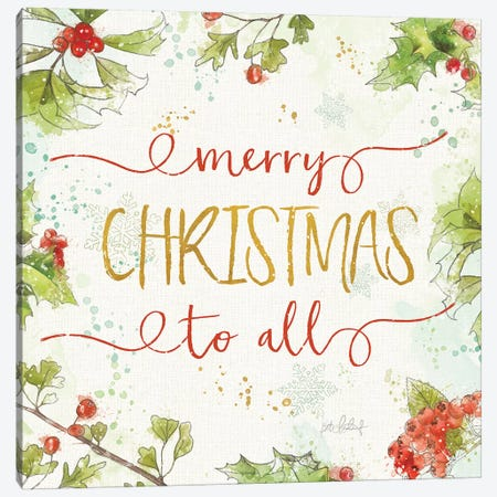 Christmas Sentiments IV Canvas Print #KPE36} by Katie Pertiet Canvas Art