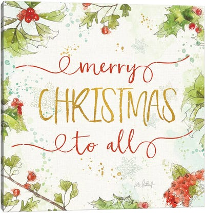 Christmas Sentiments IV Canvas Art Print