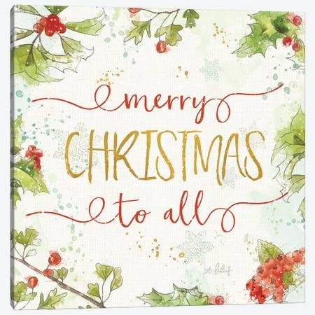 Christmas Sentiments IV Canvas Print #KPE36} by Katie Pertiet Canvas Art