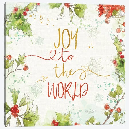 Christmas Sentiments V Canvas Print #KPE37} by Katie Pertiet Canvas Artwork