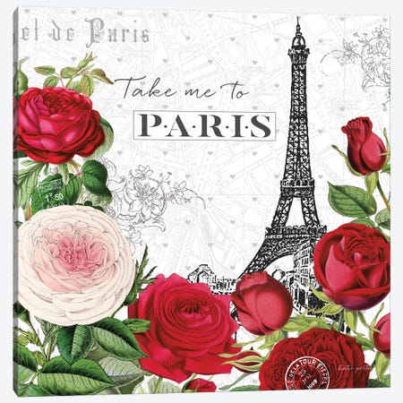 Rouge Paris III Canvas Print #KPE3} by Katie Pertiet Art Print